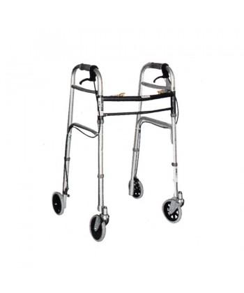 Deambulatore in duralluminio con 4 ruote e freni art.854959 - Mediland
