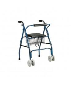 Deambulatore - rollator pieghevole con ruote piroettanti - MOD. 854907